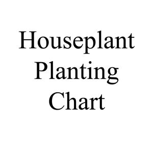 Picture of Houseplant Planting Chart