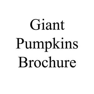 Picture of Giant Pumpkins Brochure