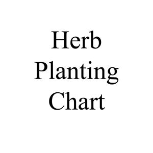 Picture of Herb Planting Chart
