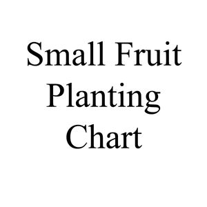Picture of Small Fruit Planting Chart